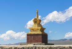 巴音布鲁克草原寺庙在新疆 免版税库存照片