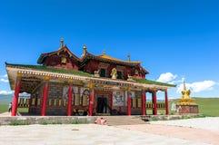 巴音布鲁克草原寺庙在新疆 免版税库存图片