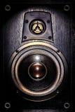 音频低音驱动器封入物报告人高音扬声器 免版税库存照片