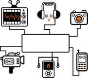 音频例证视觉 库存图片