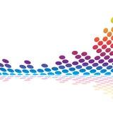音频图象波形形式 免版税库存图片