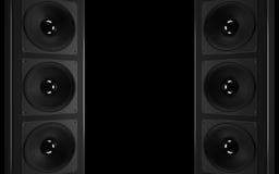 音频强大的立体音响系统 免版税库存照片
