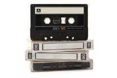 音频把卡式磁带三装箱 免版税库存照片