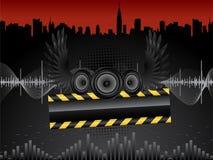 音频报告人向量 库存例证