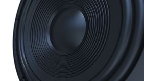 音频报告人黑色3d 图库摄影