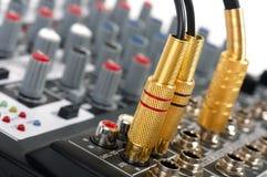 音频控制架 图库摄影