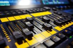 音频搅拌机声音 免版税图库摄影