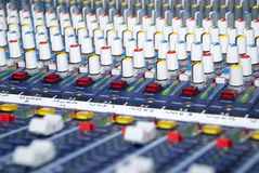 音频搅拌机声音 免版税库存图片