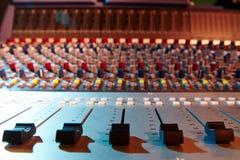 音频搅拌机声音 免版税库存照片