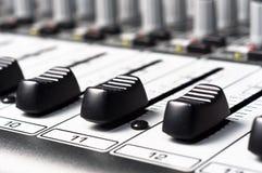音频搅拌机零件声音 免版税图库摄影