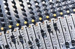 音频搅拌机音乐 库存照片