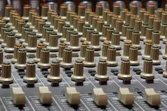 音频搅拌机 图库摄影