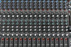 音频搅拌机 免版税图库摄影