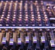 音频搅拌机 免版税库存图片