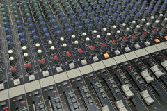 音频操纵台管理员混合的录影 图库摄影