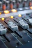 音频数字式工作区 免版税库存图片