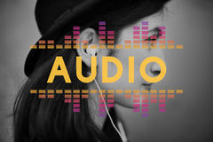 音频数字式调平器音乐调整声波图表概念 免版税库存照片