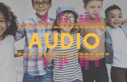 音频数字式调平器音乐调整声波图表概念 免版税库存图片