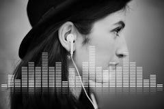 音频数字式调平器音乐调整声波图表概念 免版税图库摄影