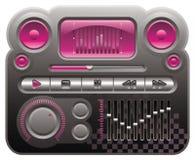 音频数字式mp3皮肤 库存图片