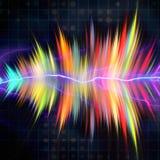 音频波形形式 免版税库存图片
