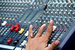 音频混合的声音 库存照片