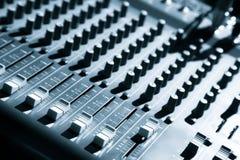 音频混合的面板 库存图片