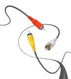 音频电缆 免版税库存照片