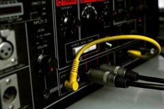 音频电缆 库存图片