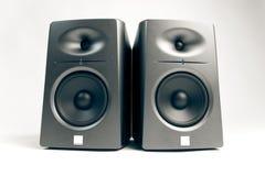 音频监控工作室白色 免版税库存照片