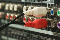音频缆绳和连接器 库存图片