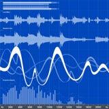 音频调平器 库存例证