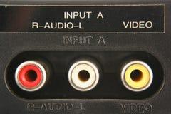 音频输入顶起录影 库存照片