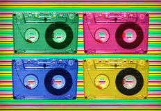 音频迪斯科磁带 免版税库存照片