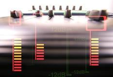 音频音量控制器 免版税库存图片