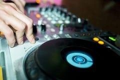 音频,俱乐部,控制台,控制 免版税库存图片