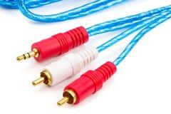 音频AV缆绳 库存图片