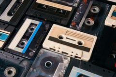 音频cassete磁带背景 免版税库存照片