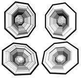 伴音系统用多角形做的报告人低音扬声器 图库摄影