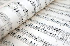 活页乐谱 免版税库存图片
