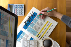 主页全局地址浏览器互联网网站设计软件 免版税库存图片