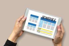 主页全局地址浏览器互联网网站设计软件 库存图片
