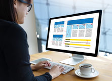 主页全局地址浏览器互联网网站设计软件 免版税库存照片