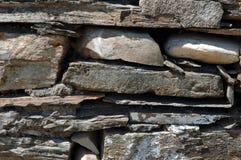 页岩石墙 免版税库存照片