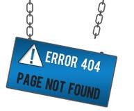 页没被找到的牌 免版税库存照片