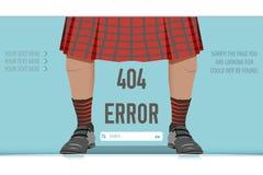 页没被找到的错误404,例证 免版税库存照片