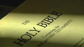 页面调换在圣经 股票录像