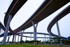 顶上大横穿的高速公路 免版税图库摄影