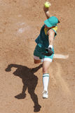 顶上的垒球 库存图片