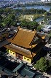 顶上的江天寺 免版税库存照片